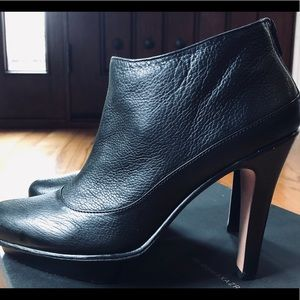BCBG leather Bianca booties size 9